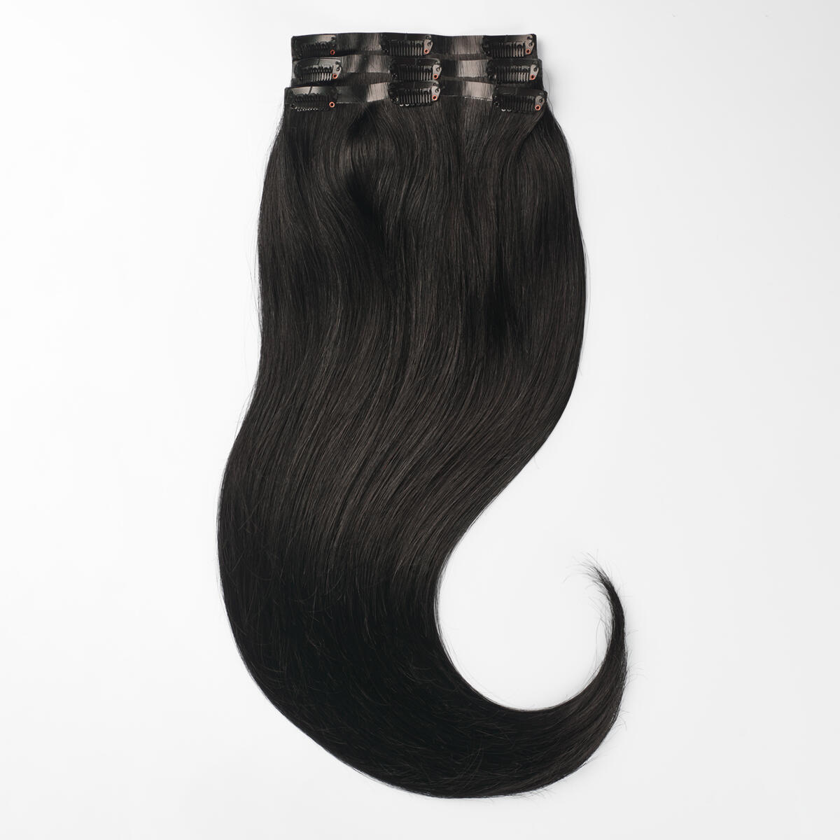Sleek Clip-on set 3 pieces 1.0 Black 50 cm