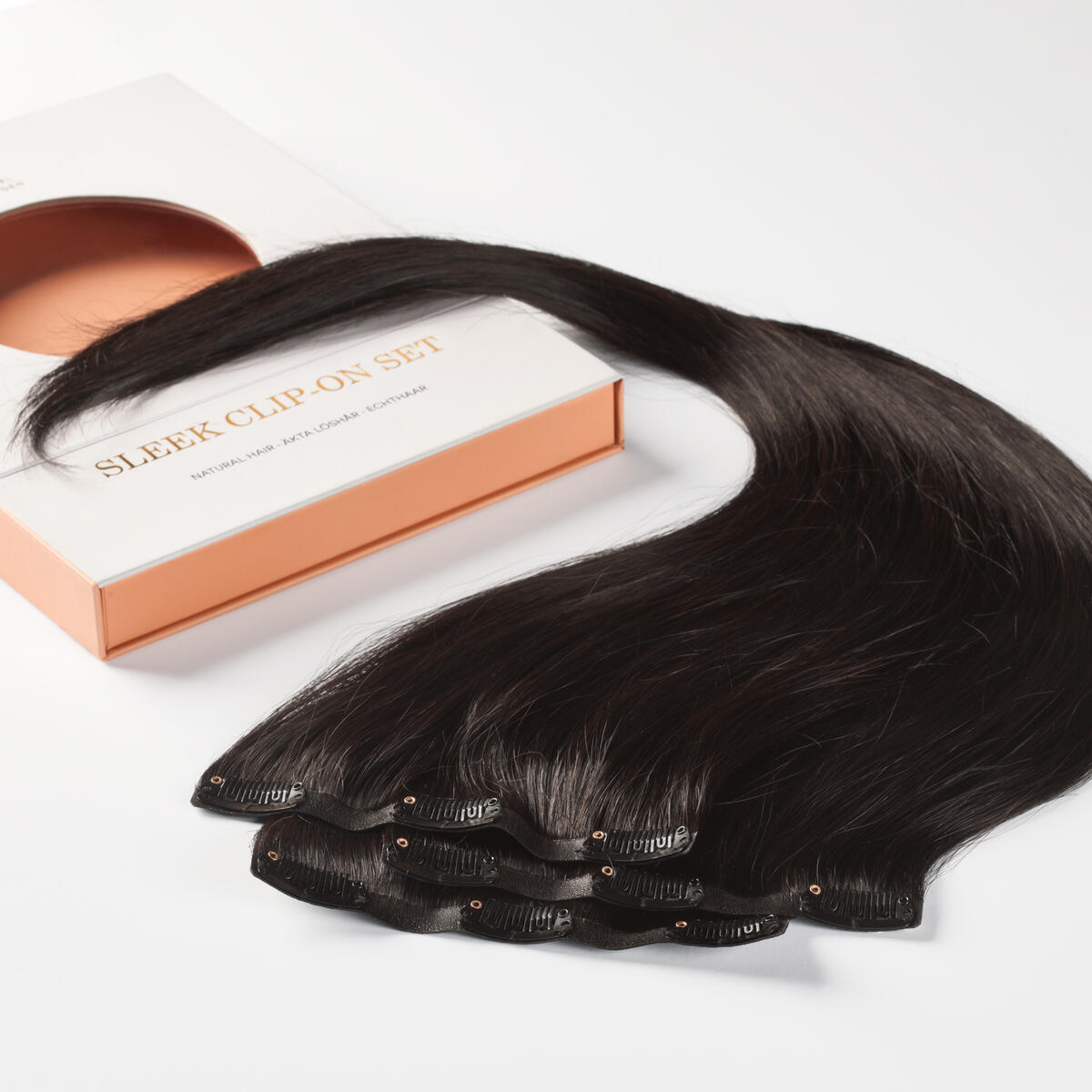 Sleek Clip-on set 1.2 Black Brown 50 cm