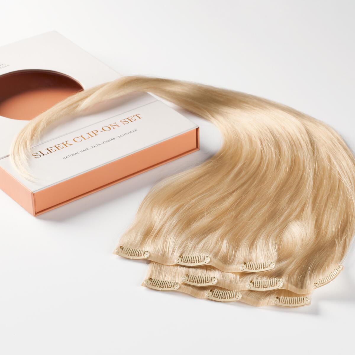 Sleek Clip-on set 3 pieces 10.8 Light Blonde 50 cm