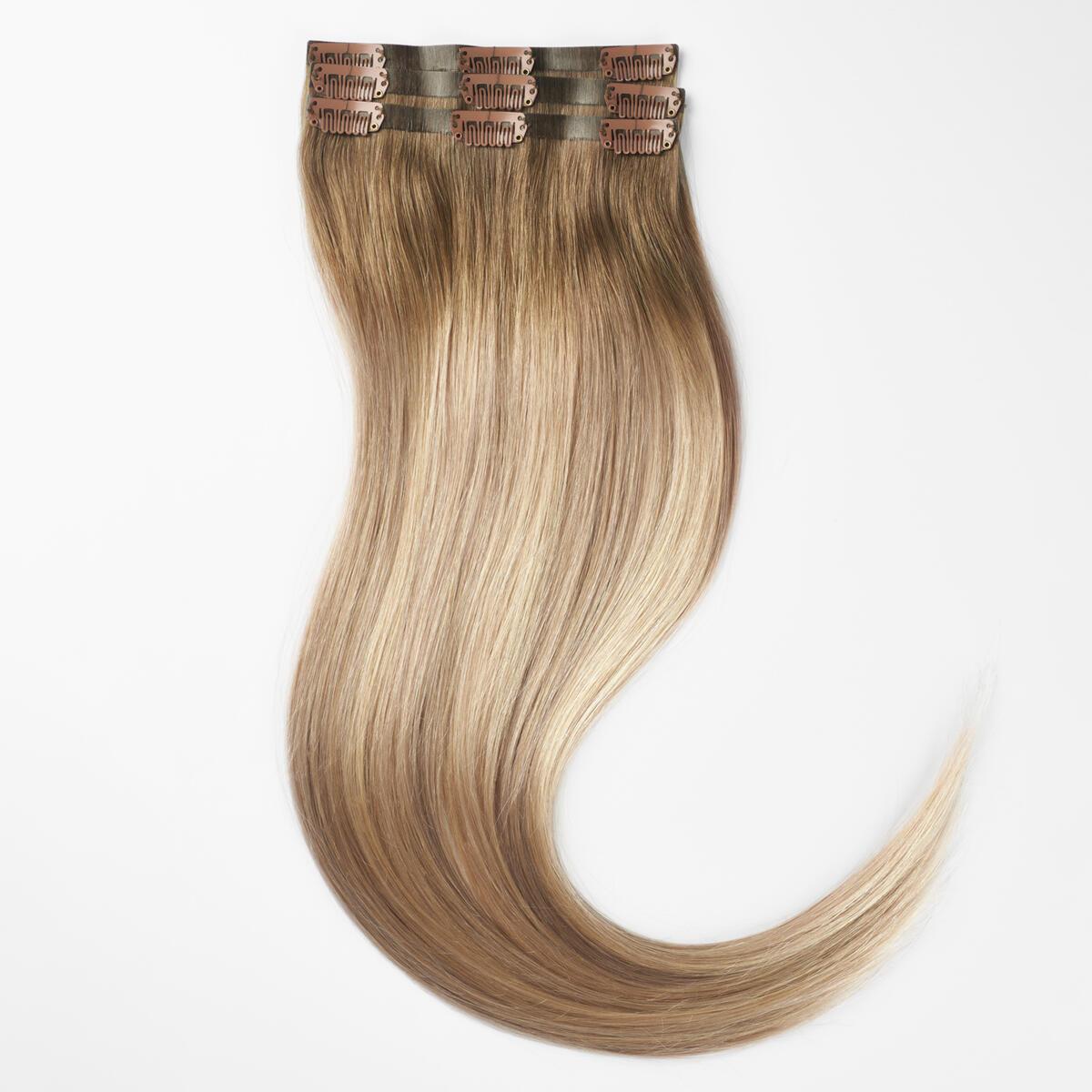 Sleek Clip-on set 3 pieces B2.6/10.7 Dark Ashy Blonde Balayage 50 cm
