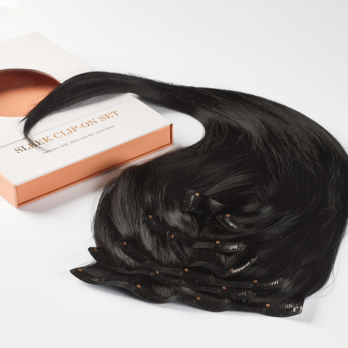 Sleek Clip-on set 1.0 Black 50 cm