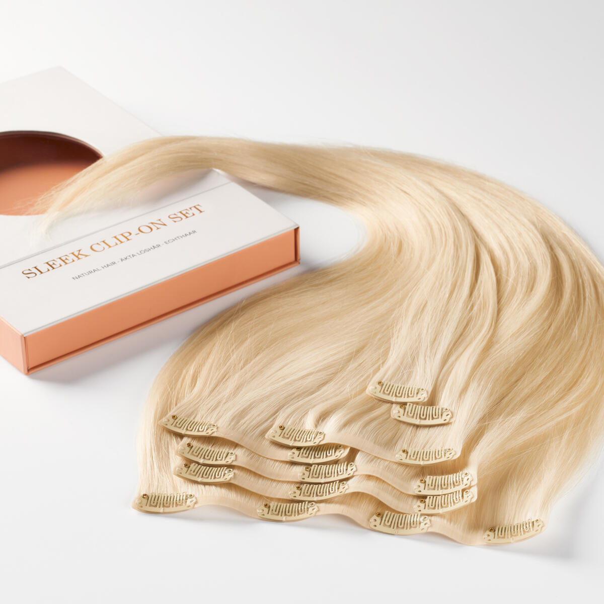 Sleek Clip-on set 10.10 Platinum Blonde 50 cm