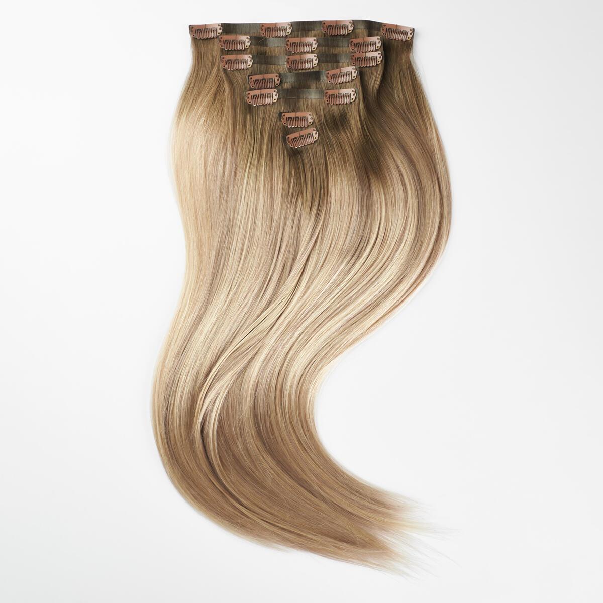 Sleek Clip-on set 7 pieces B2.6/10.7 Dark Ashy Blonde Balayage 50 cm