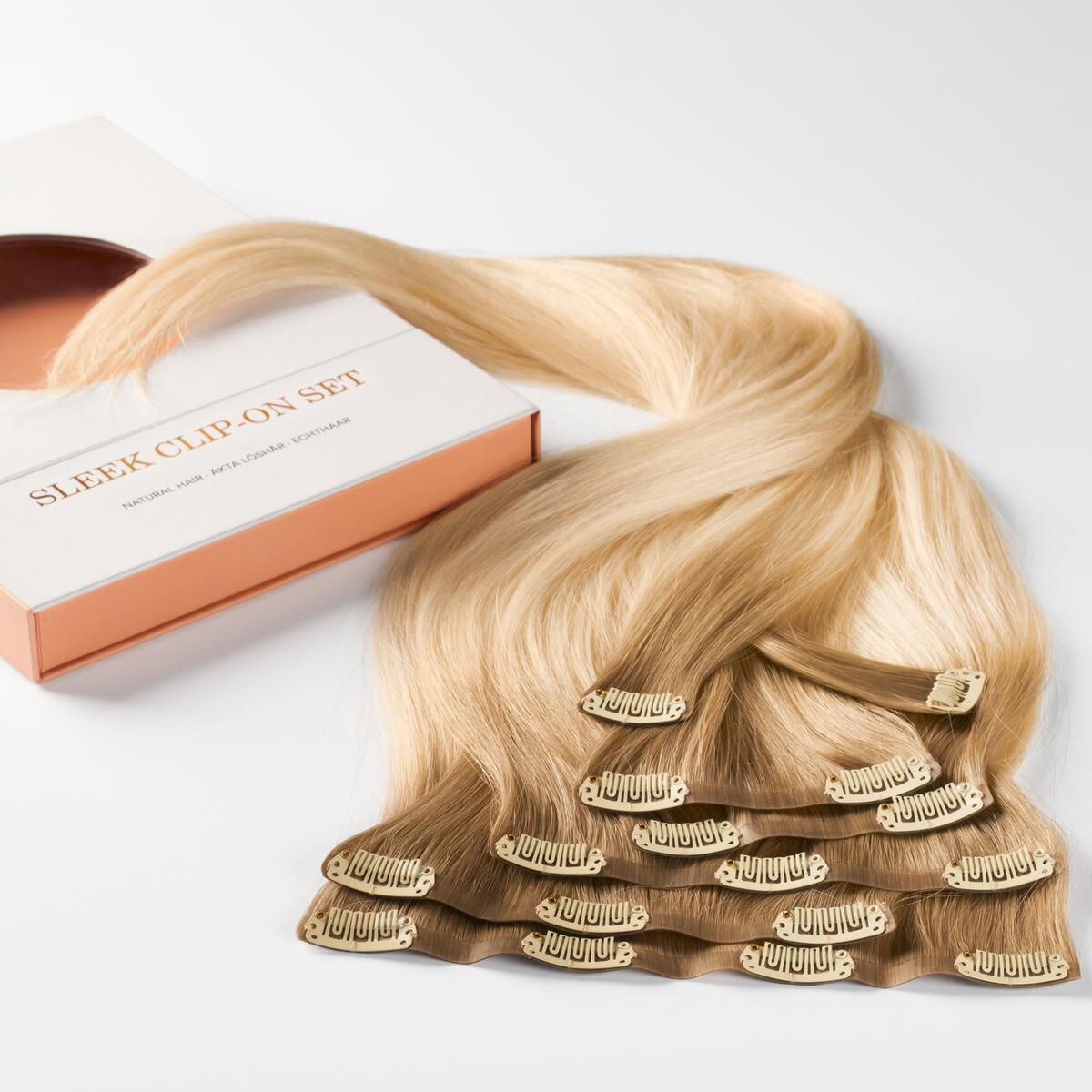 Sleek Clip-on set B7.3/10.10 Cool Platinum Blonde Balayage 50 cm