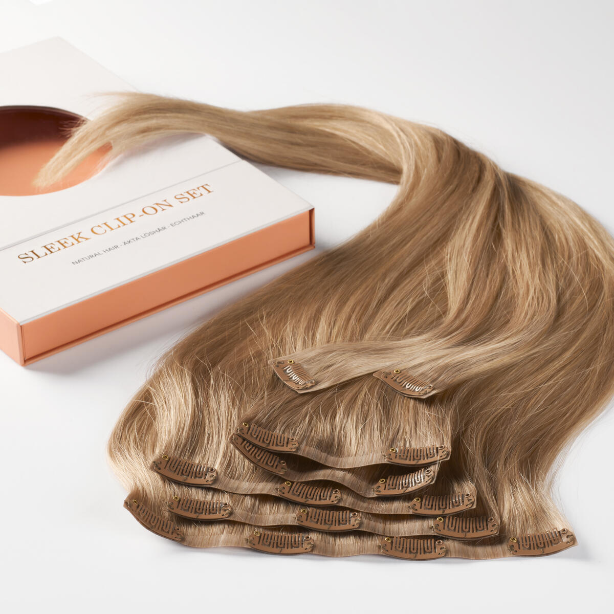 Sleek Clip-on set B7.5/10.7 Sandy Blonde Balayage 50 cm