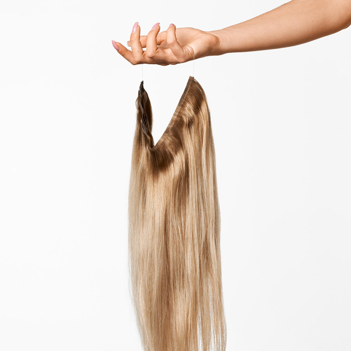 Sleek Hairband B5.3/8.0 Champagne Blonde Balayage 50 cm