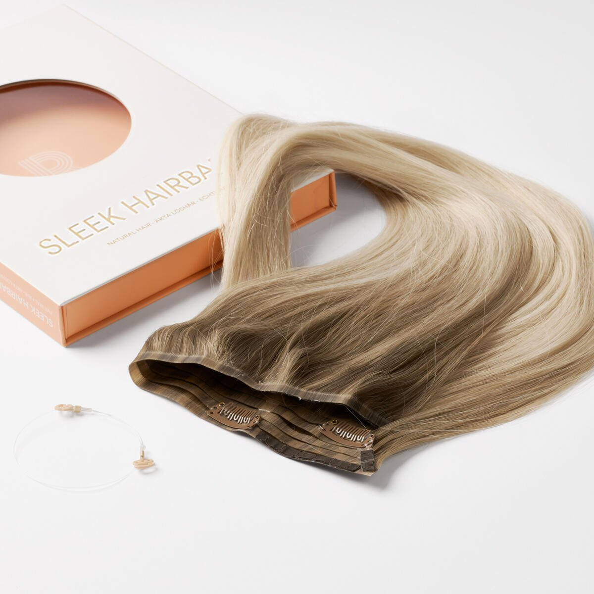 Sleek Hairband B7.3/10.10 Cool Platinum Blonde Balayage 50 cm