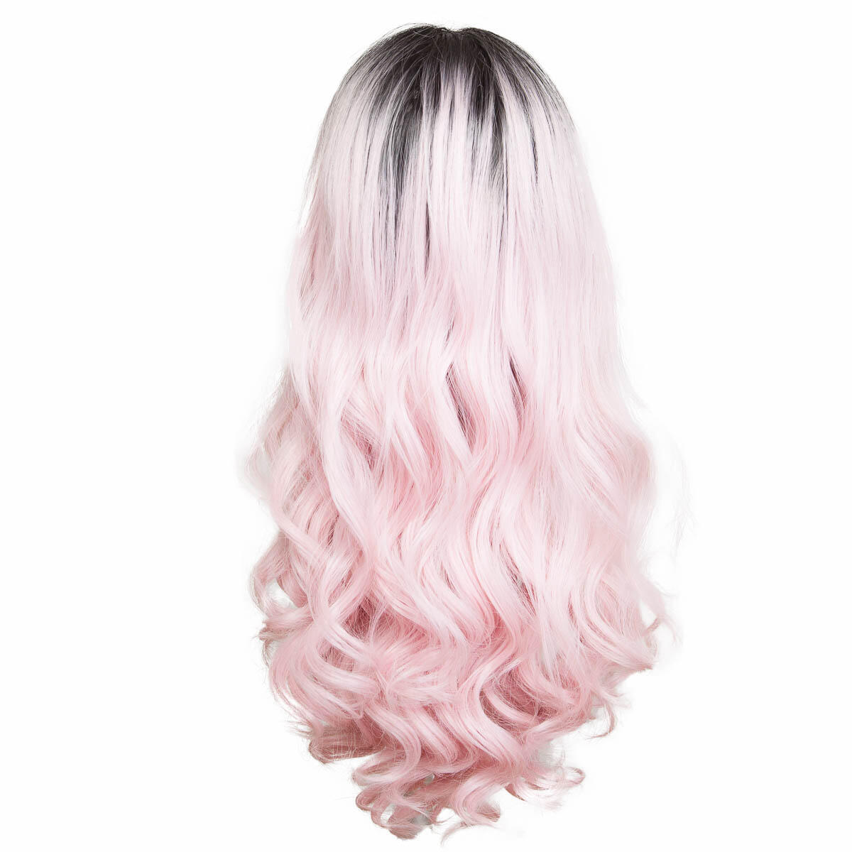 Lace Front Wig O1.2/99.2 Black Brown/Pink 60 cm