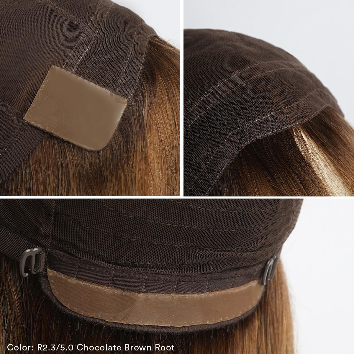 Lace Wig R7.3/8.0 Cendre Golden Blonde Root 35 cm