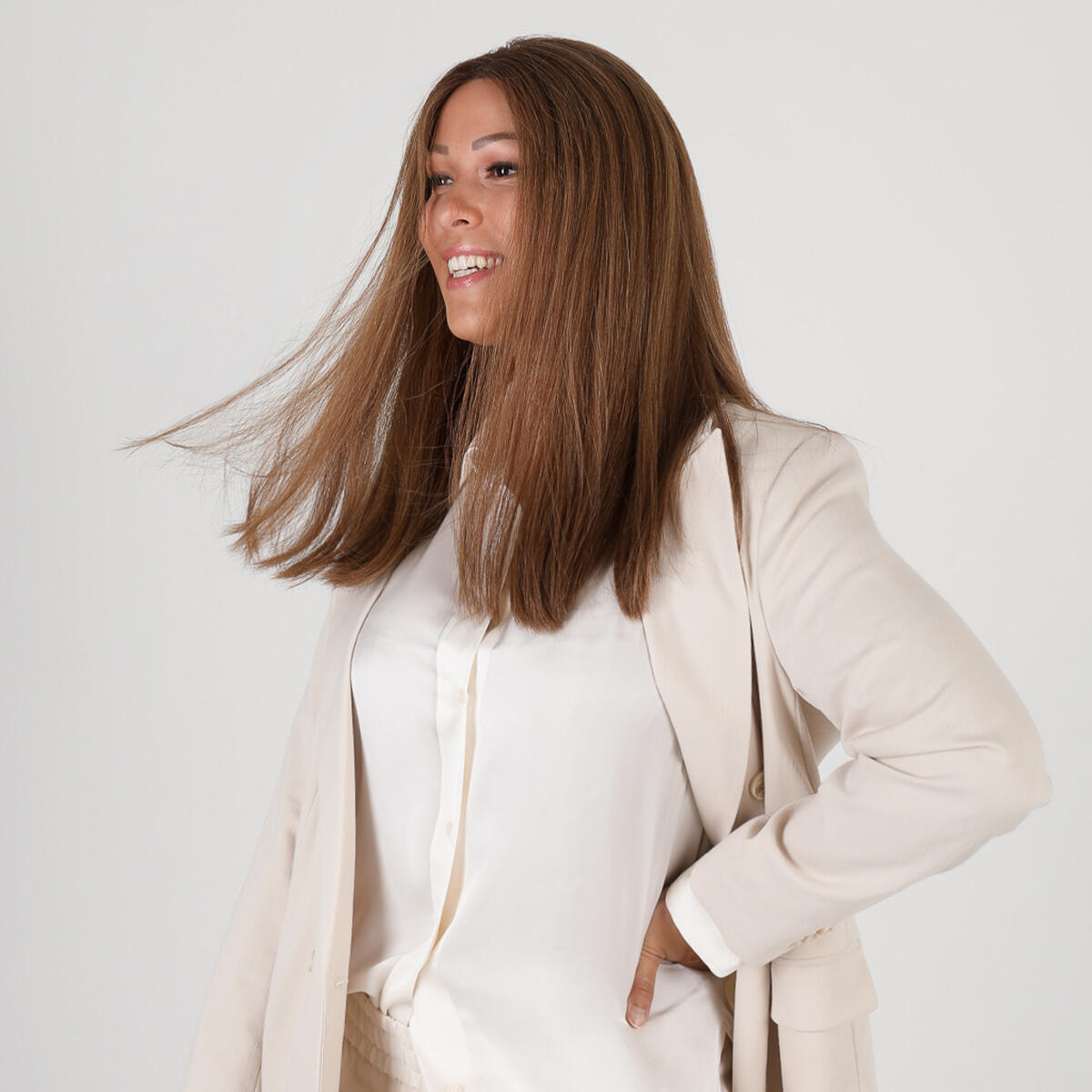 Lace Wig R2.3/5.0 Chocolate Brown Root 45 cm