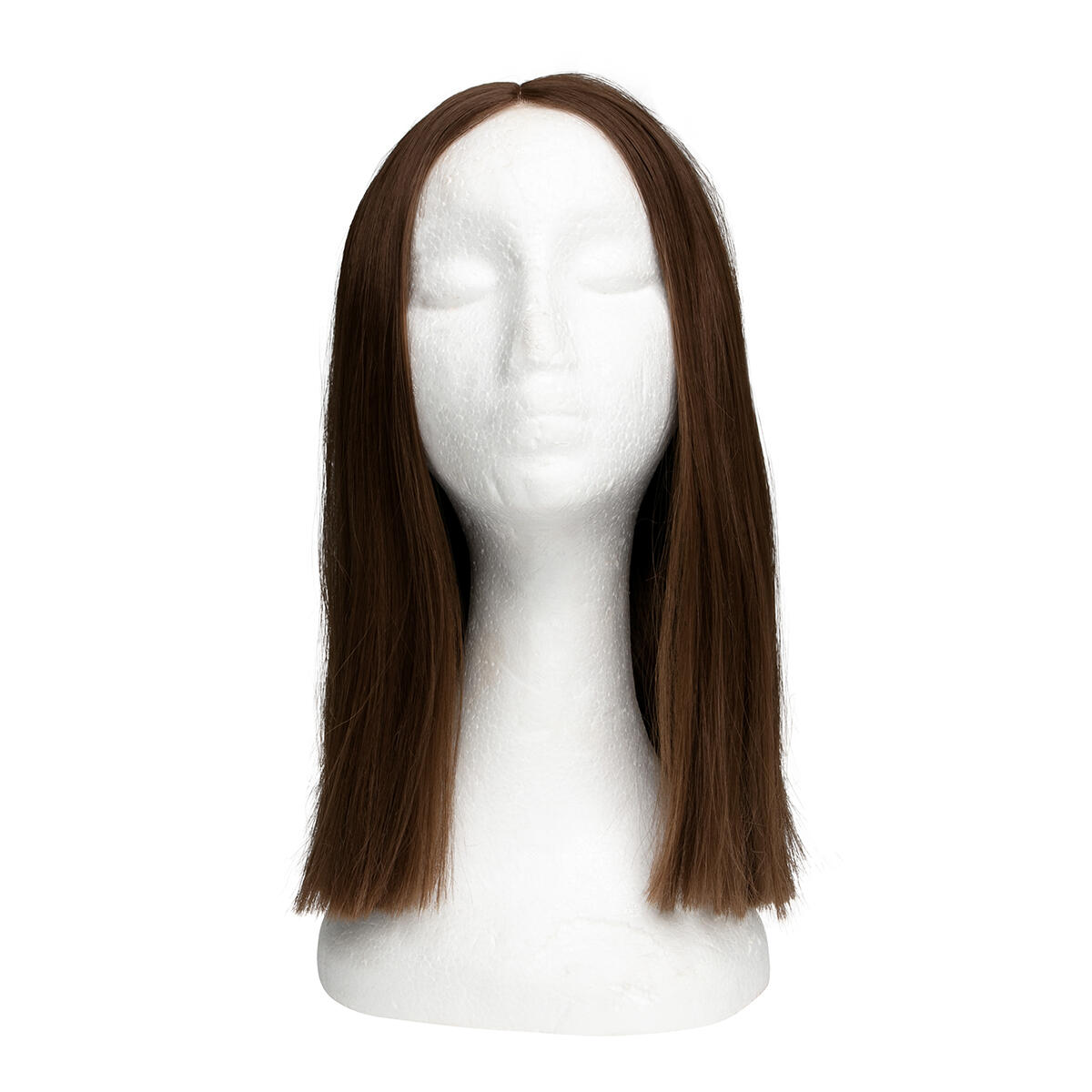 Lace Front Wig Straight Short 5.0 Brown 35 cm
