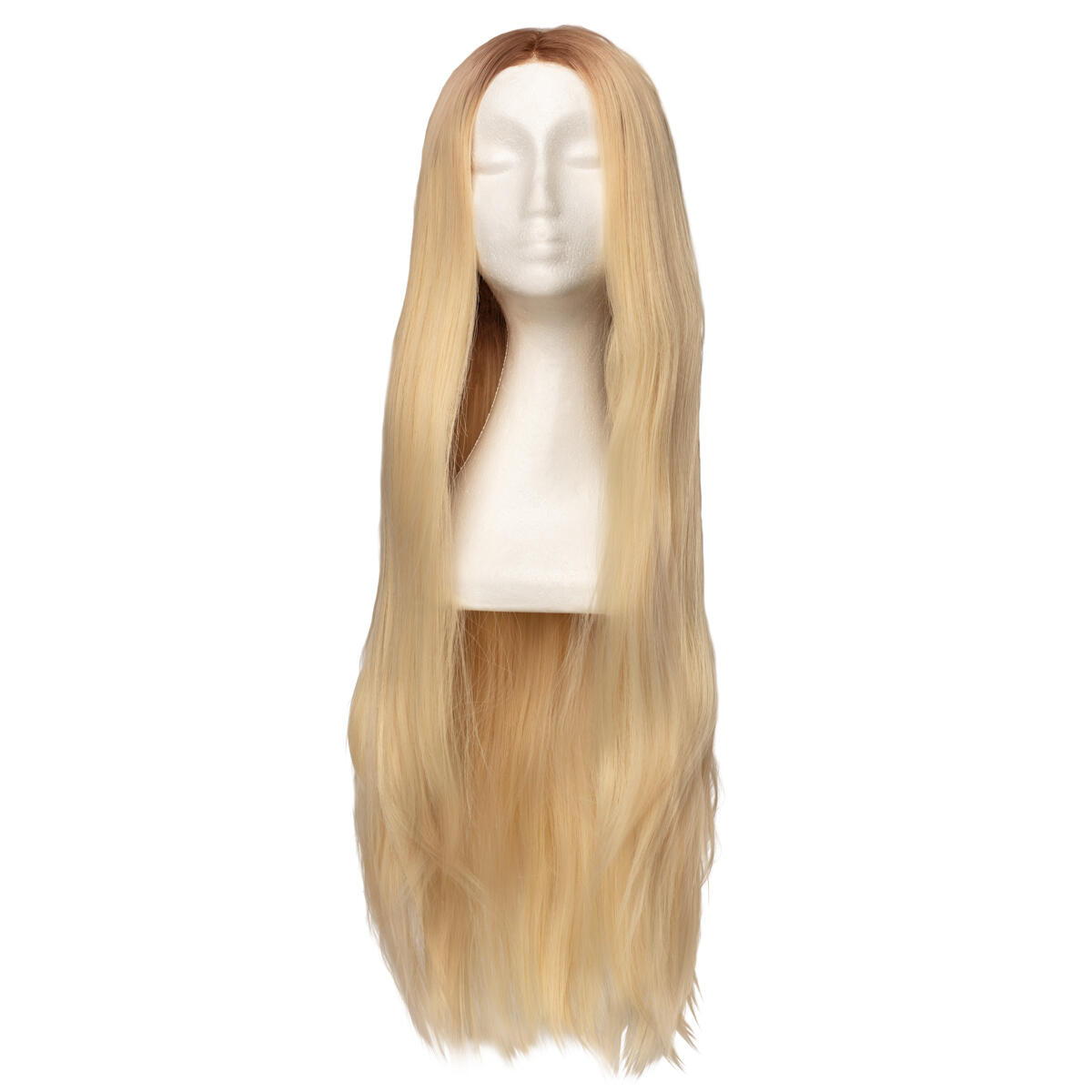 Lace Front Perücke - Straight Long R7.3/10.8 Cendre Ash Blonde Root 80 cm