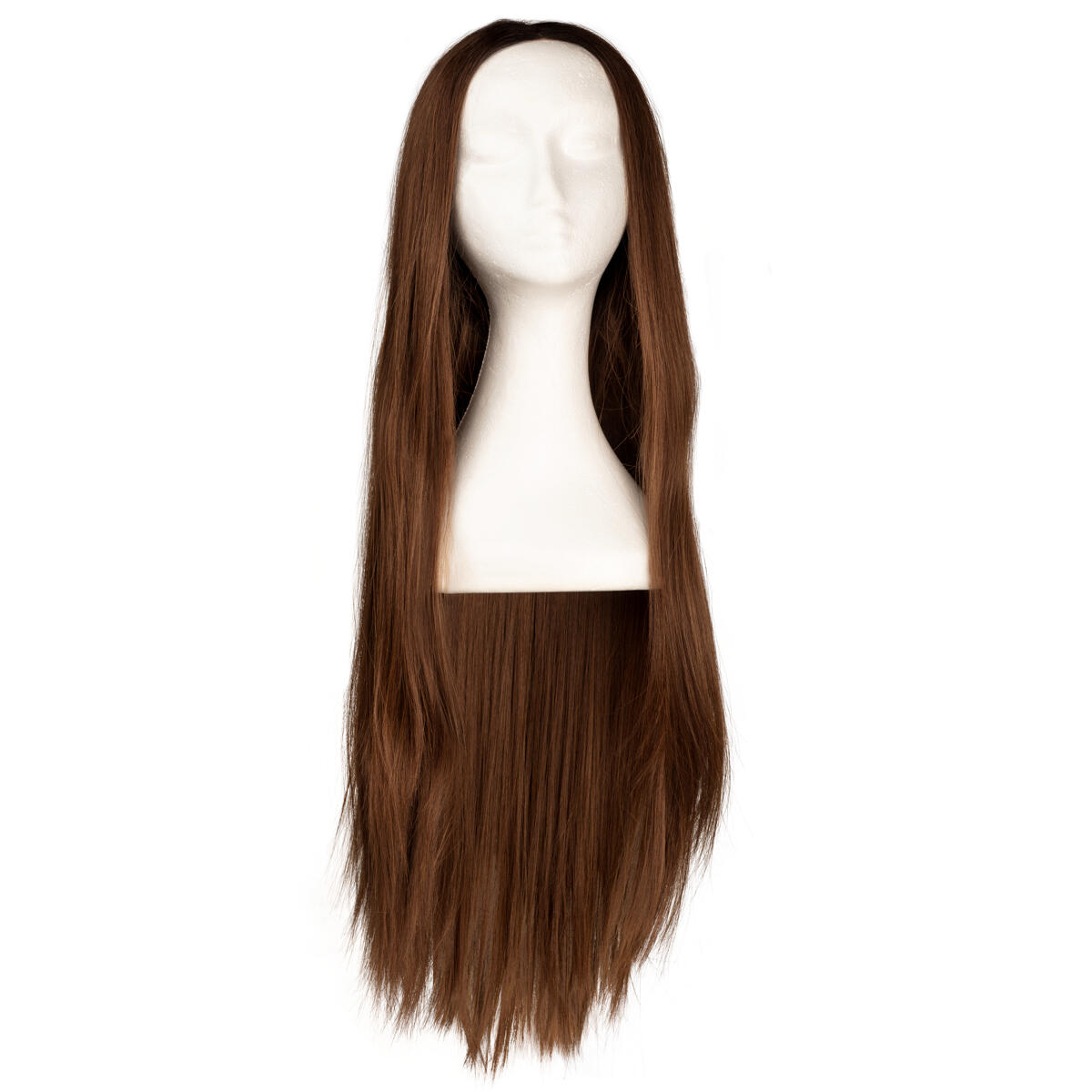 Lace Front Perücke - Straight Long R2.3/5.0 Chocolate Brown Root 80 cm