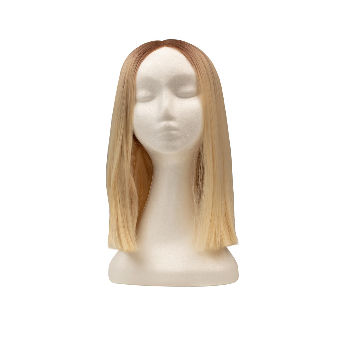 Lace Front Perücke - Straight Short R7.3/10.8 Cendre Ash Blonde Root 35 cm