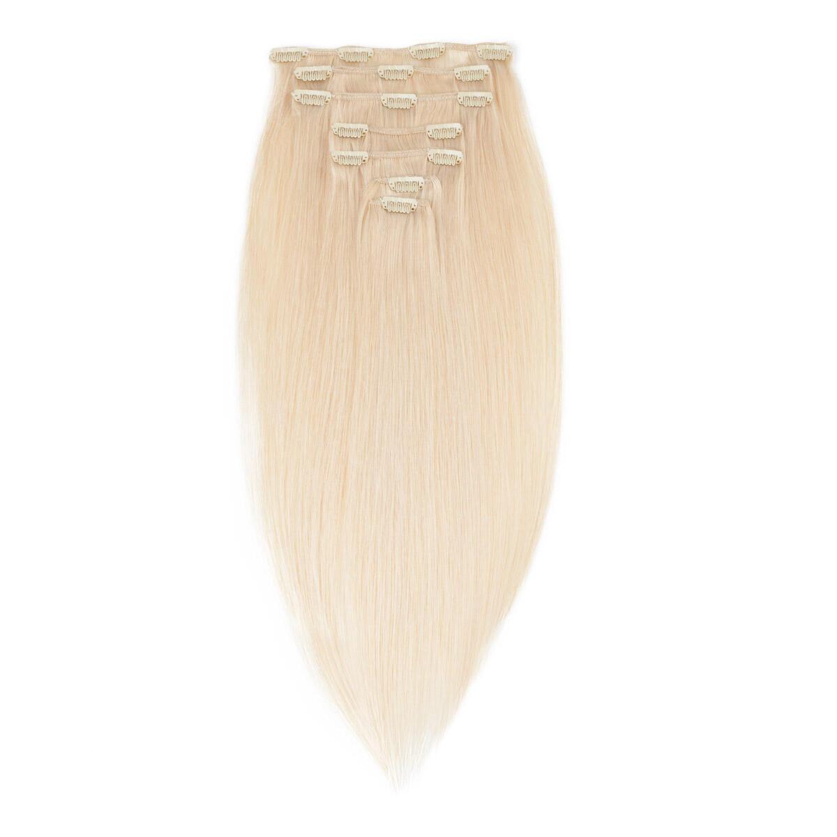 Clip-on Set Premium 7 pieces 10.8 Light Blonde 50 cm