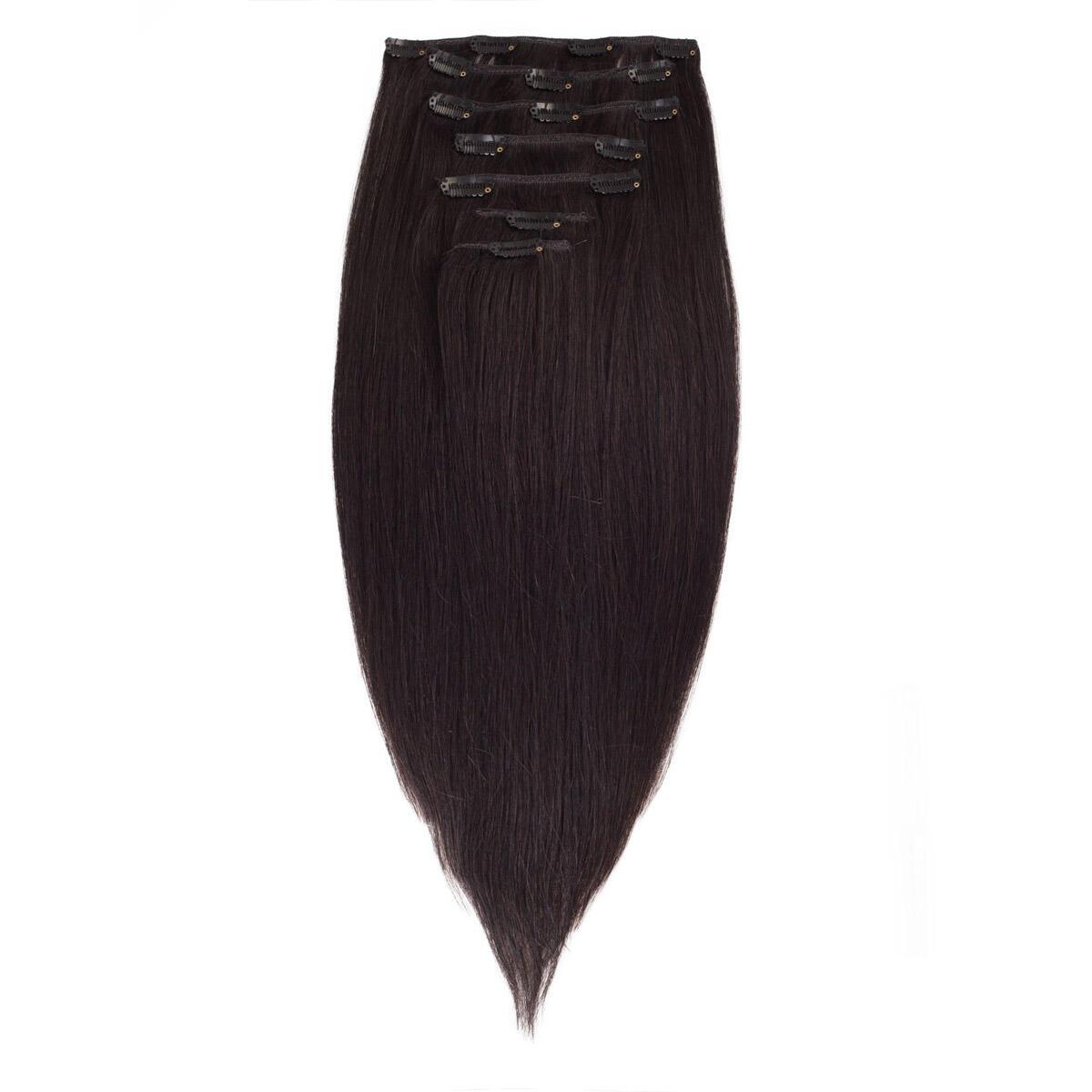 Clip-on Set Premium 7 pieces 1.2 Black Brown 50 cm