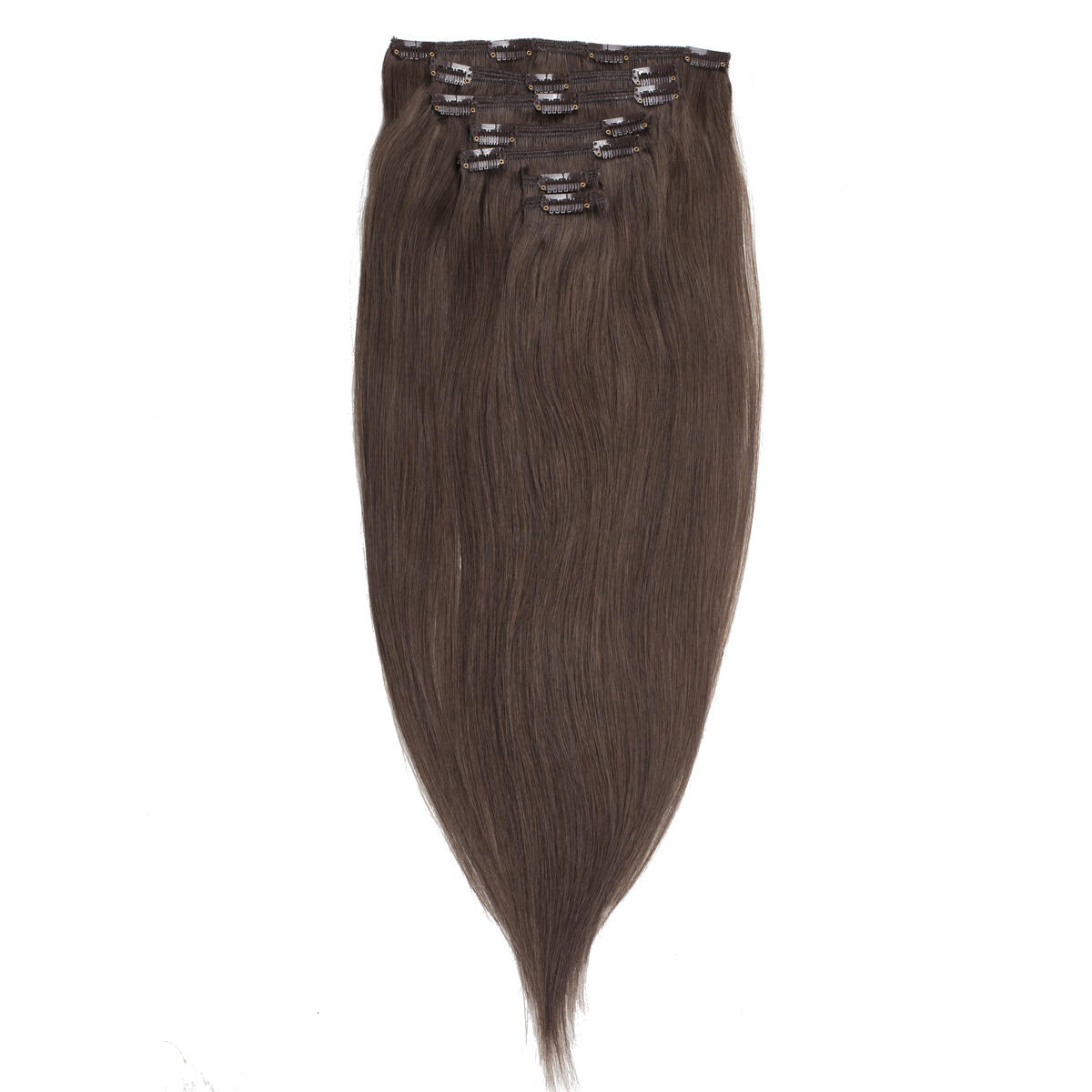 Clip-on Set Original 7 pieces 2.6 Dark Ash Brown 50 cm