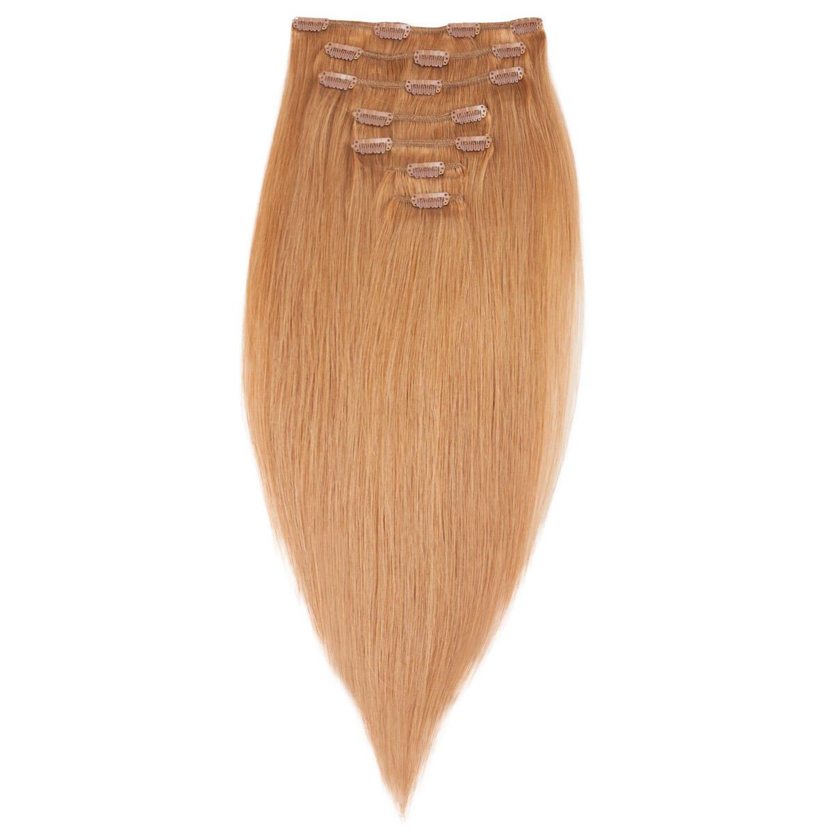 Clip-on Set Premium 7 pieces 7.4 Medium Golden Blonde 50 cm