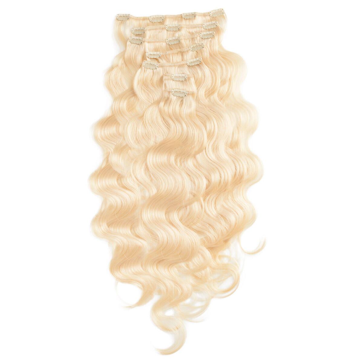 Clip-on Set Gewellt 7 pieces 8.0 Light Golden Blonde 60 cm