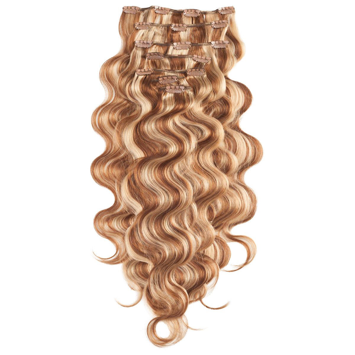 Clip-on set Body Wave 7 pieces M5.4/7.8 Strawberry Brown Mix 60 cm
