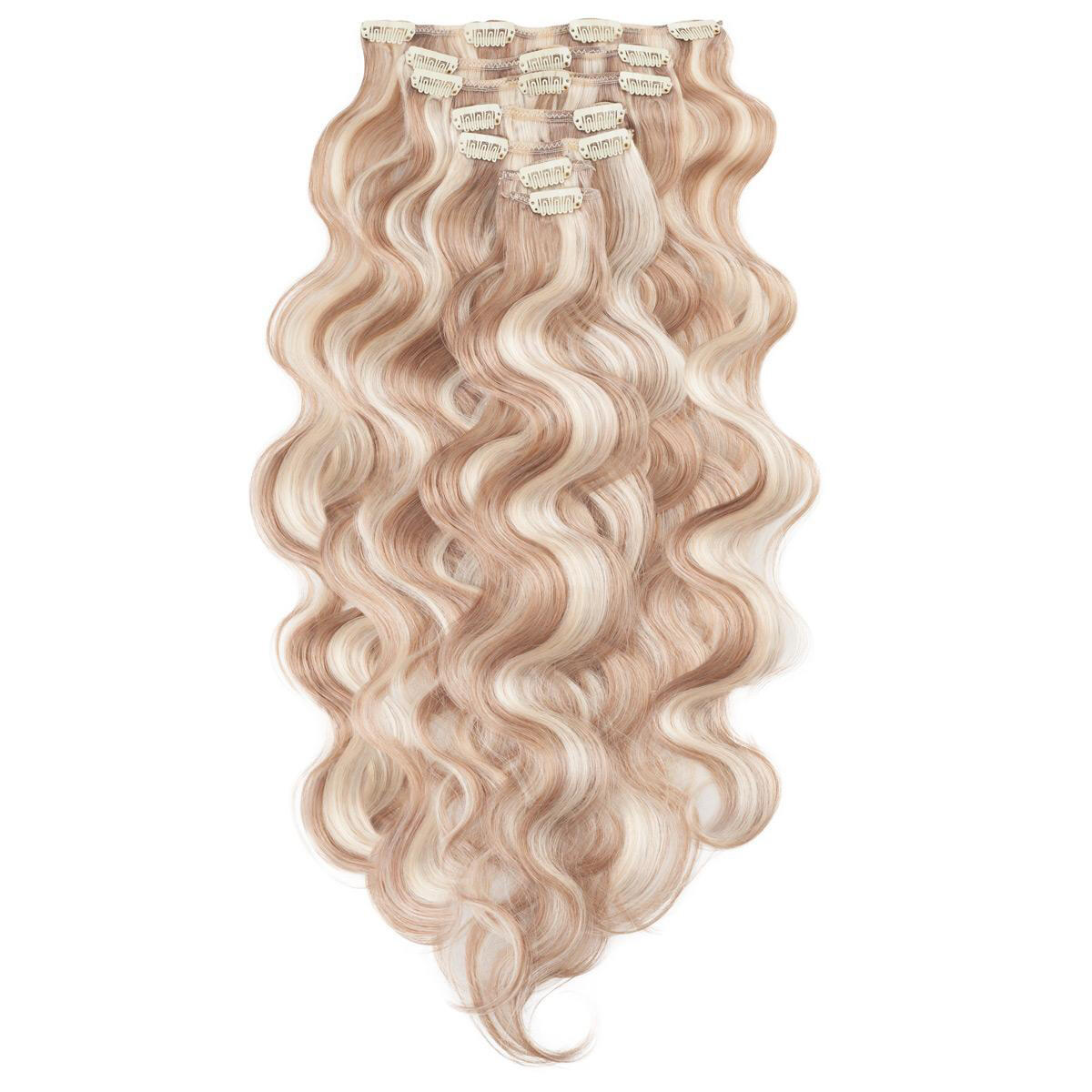 Clip-on set Original 7 pieces Body Wave M7.3/10.8 Cendre Ash Blonde Mix 60 cm