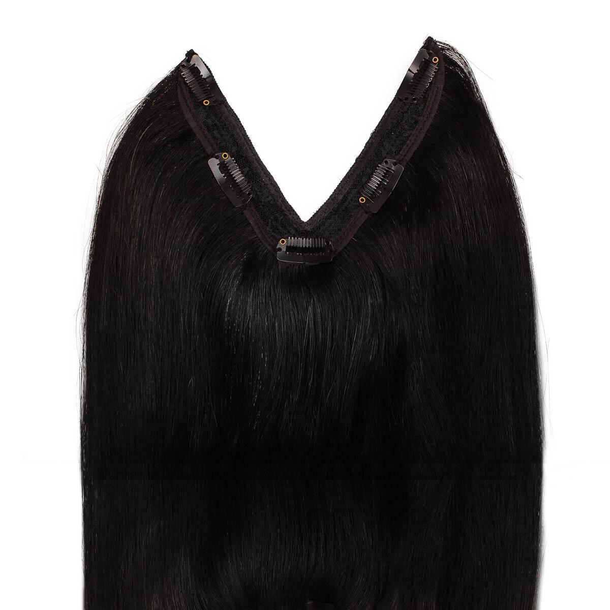 Easy Clip-in 1.0 Black 50 cm