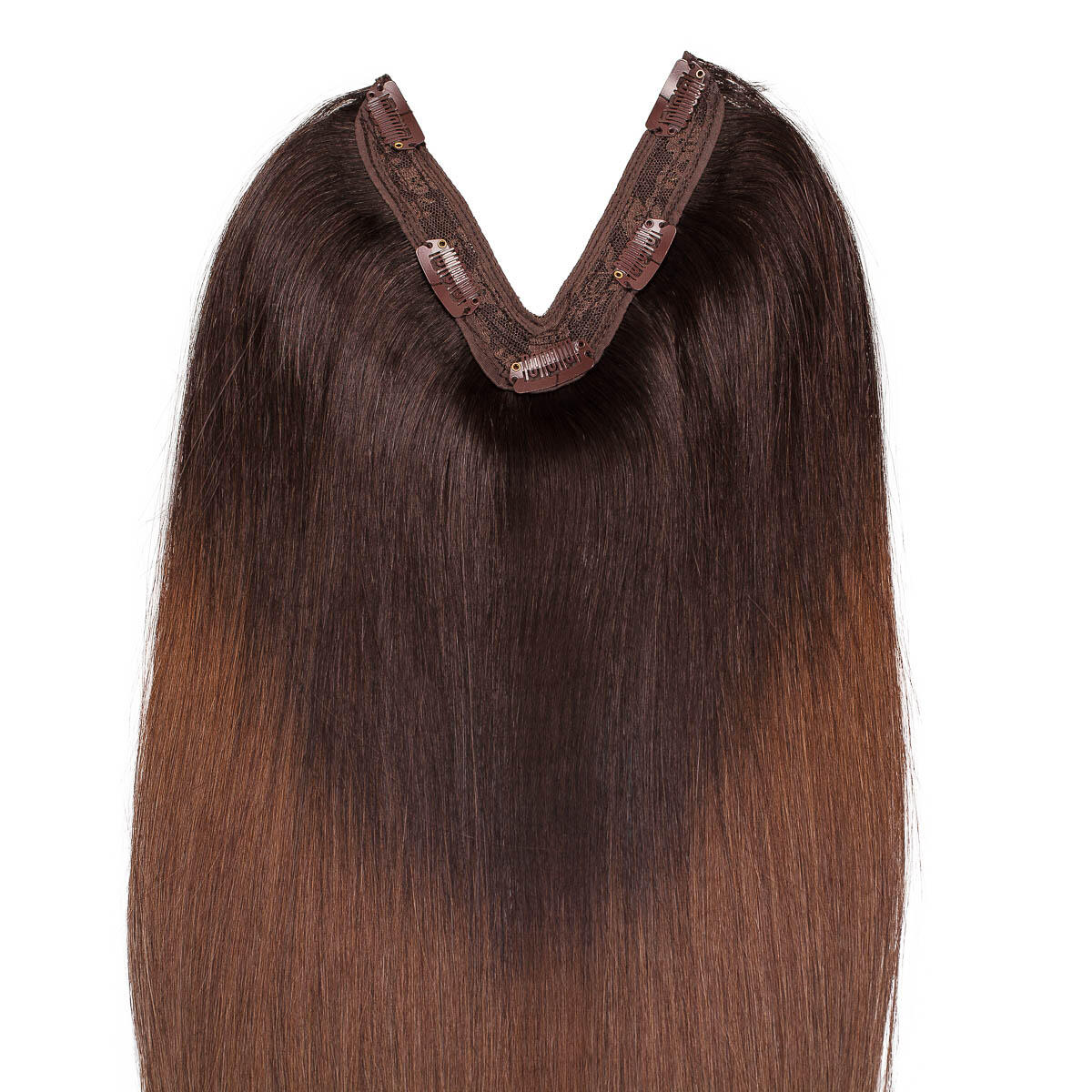 Easy Clip-in O2.3/5.0 Chocolate Brown Ombre 50 cm
