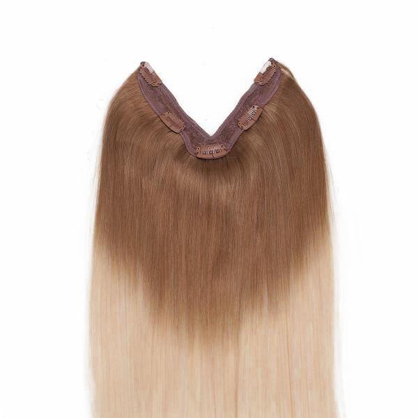 Easy Clip-in O7.3/10.8 Cendre Ash Blond Ombre 50 cm