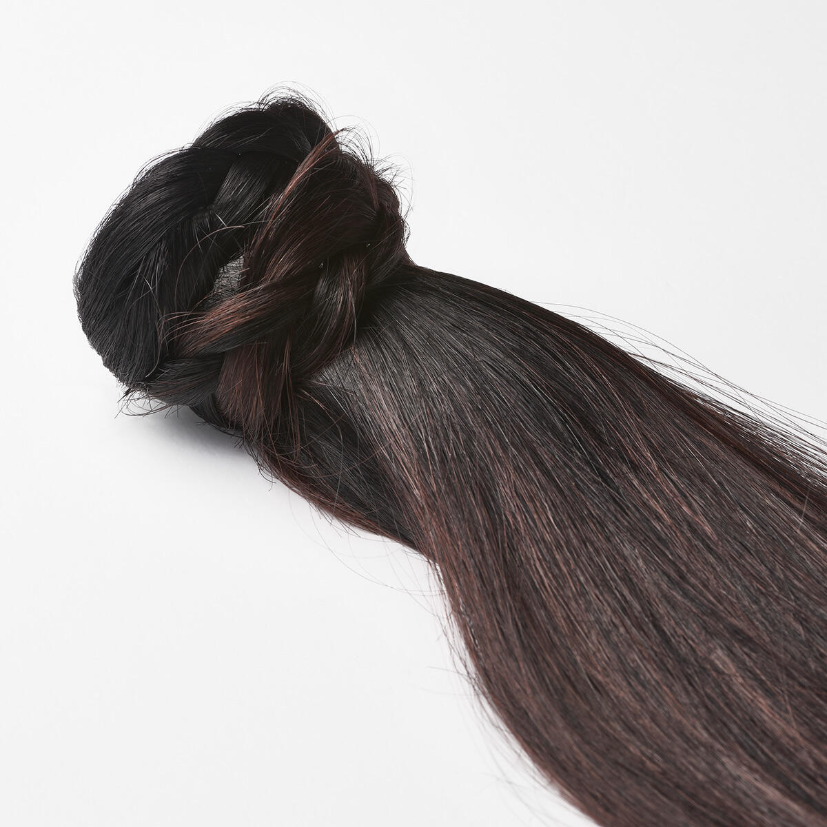 Clip-in Ponytail Ponytail made of real hair B1.0/6.12 Cherry Infused Black Balayage 50 cm