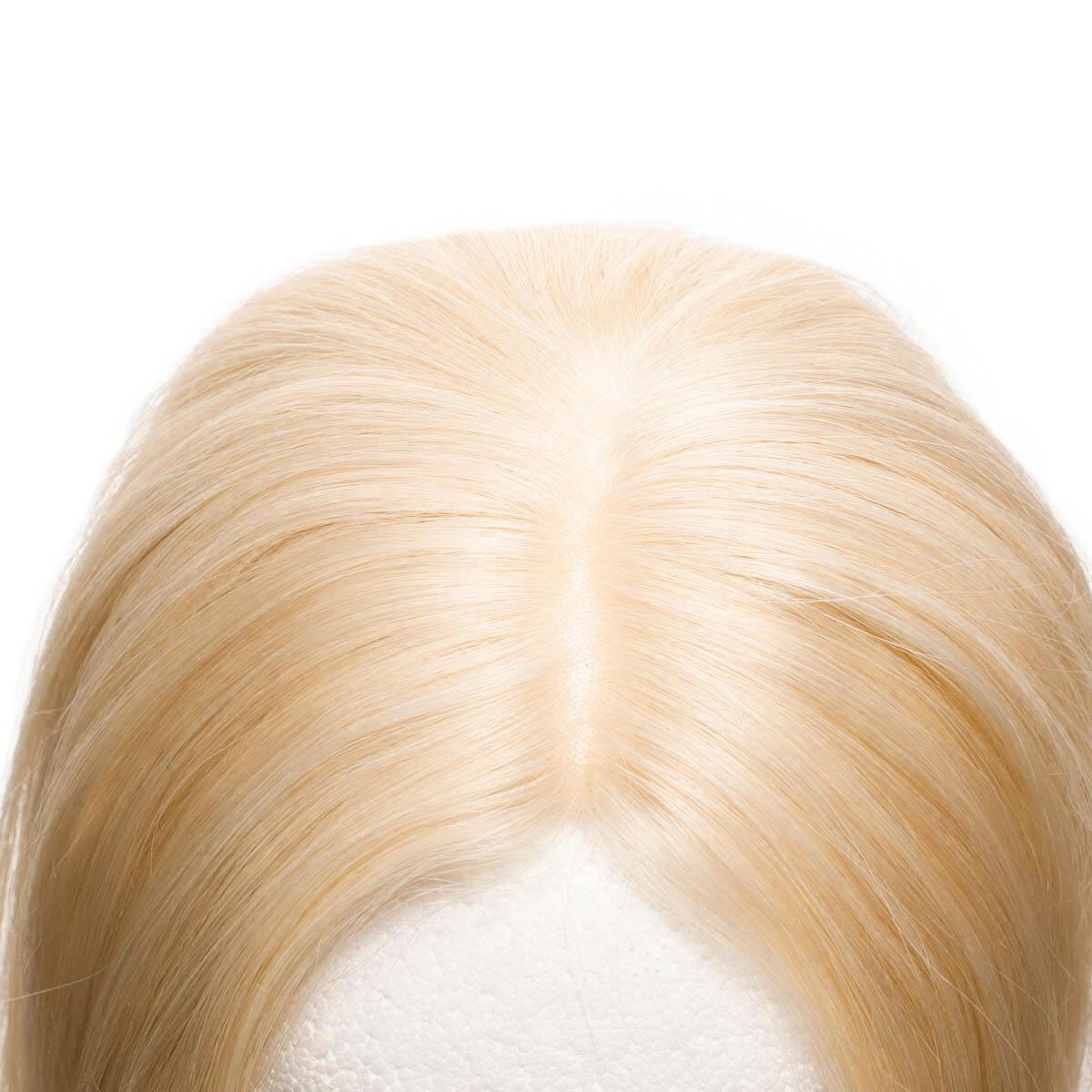 Top Piece Original Glatt 8.0 Light Golden Blonde 30 cm