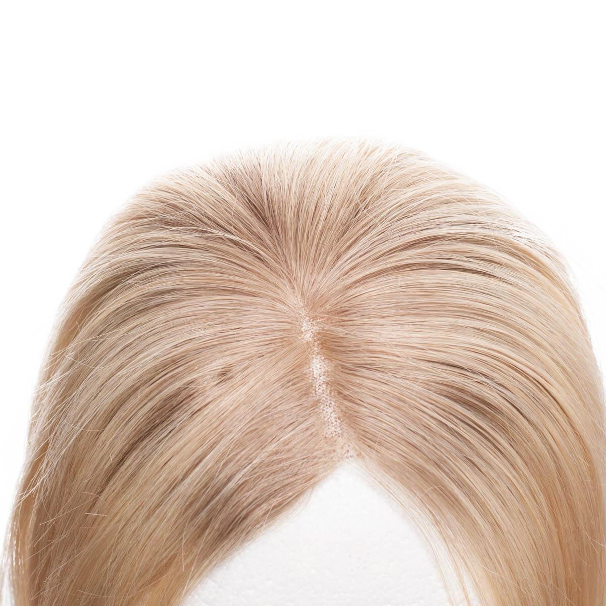 Top Piece Original Glatt R7.3/8.0 Cendre Golden Blonde Root 30 cm