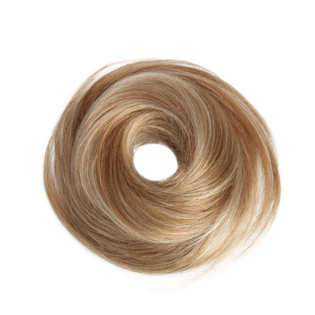 Volume Hair Scrunchie 40 G Scrunchie with real hair M7.3/10.8 Cendre Ash Blonde Mix