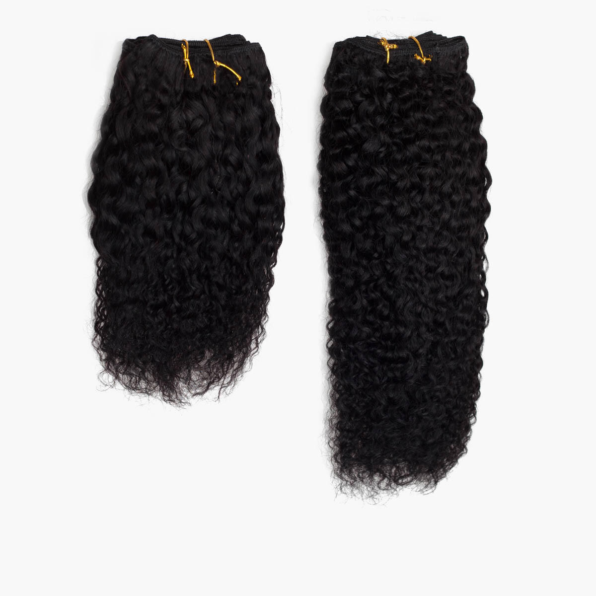 Hair Weft Coily Curl 1.0 Black 25 cm
