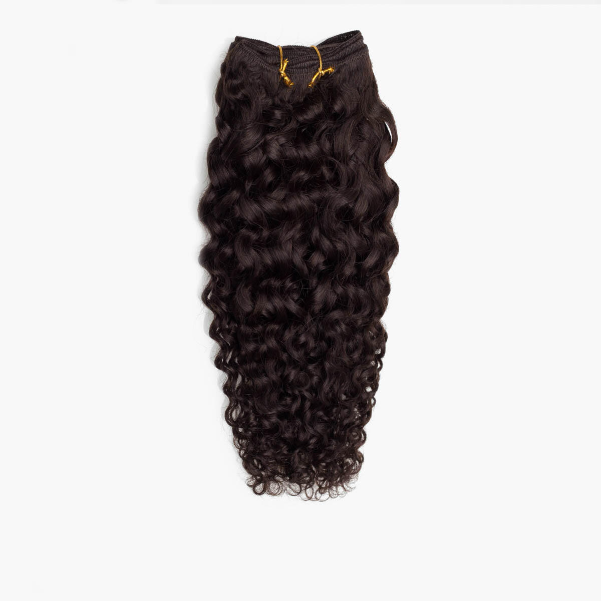 Hair Weft Curly Curls 2.3 Chocolate Brown 35 cm
