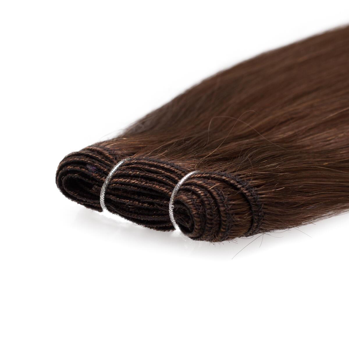 Haartresse Premium Glatt 5.0 Brown 50 cm