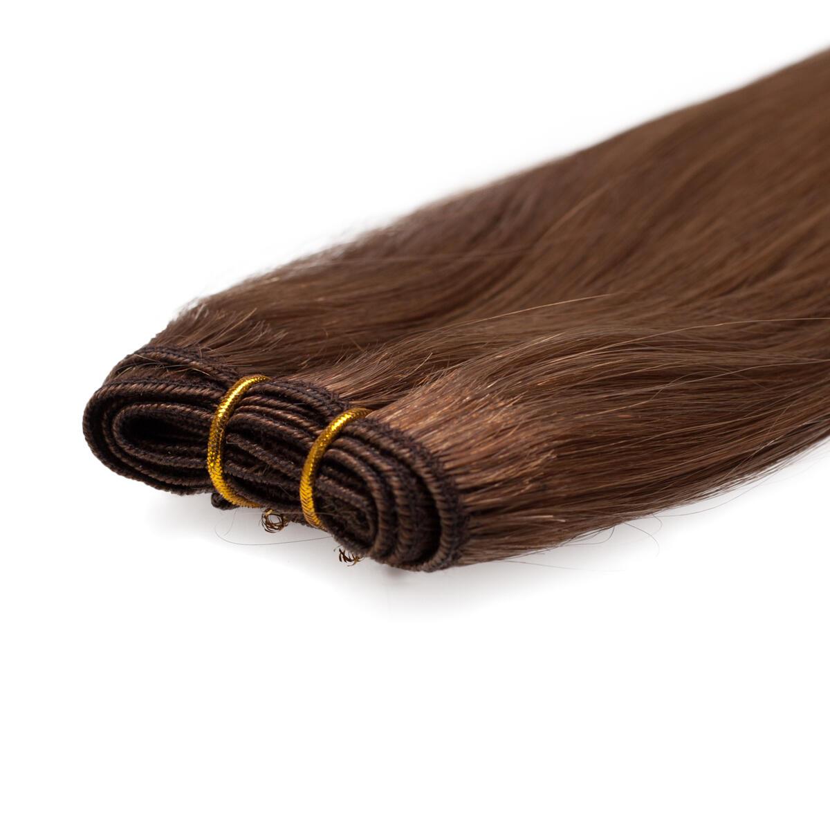 Haartresse Premium Glatt 5.1 Medium Ash Brown 50 cm