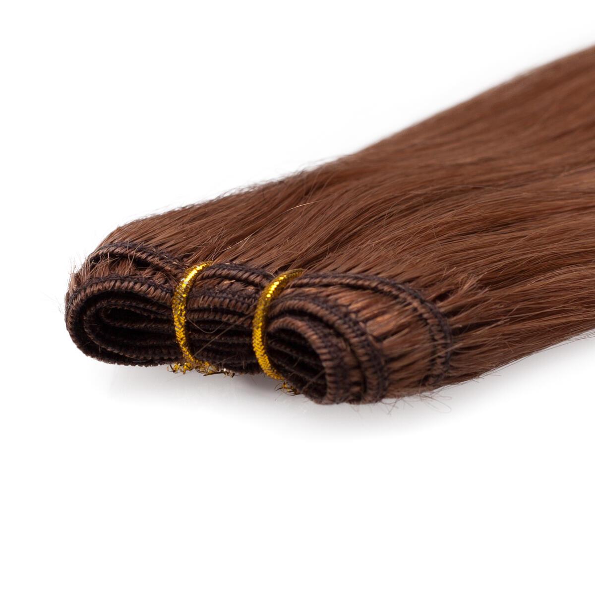 Hair Weft Original Straight 5.45 Dark Copper Brown 50 cm