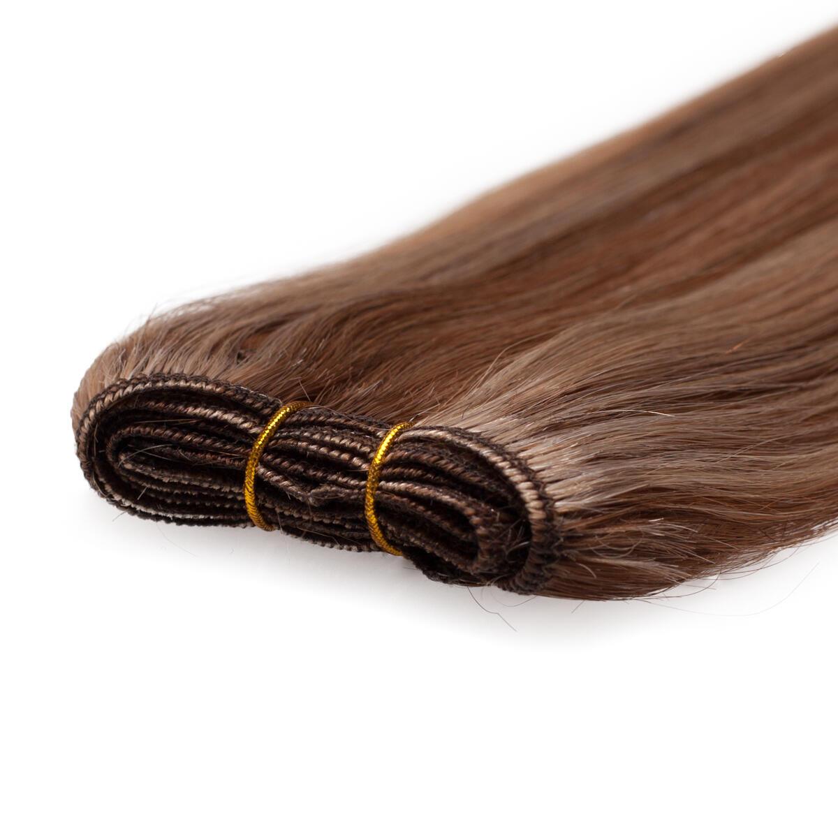 Haartresse Premium Glatt M5.4/7.8 Strawberry Brown Mix 50 cm