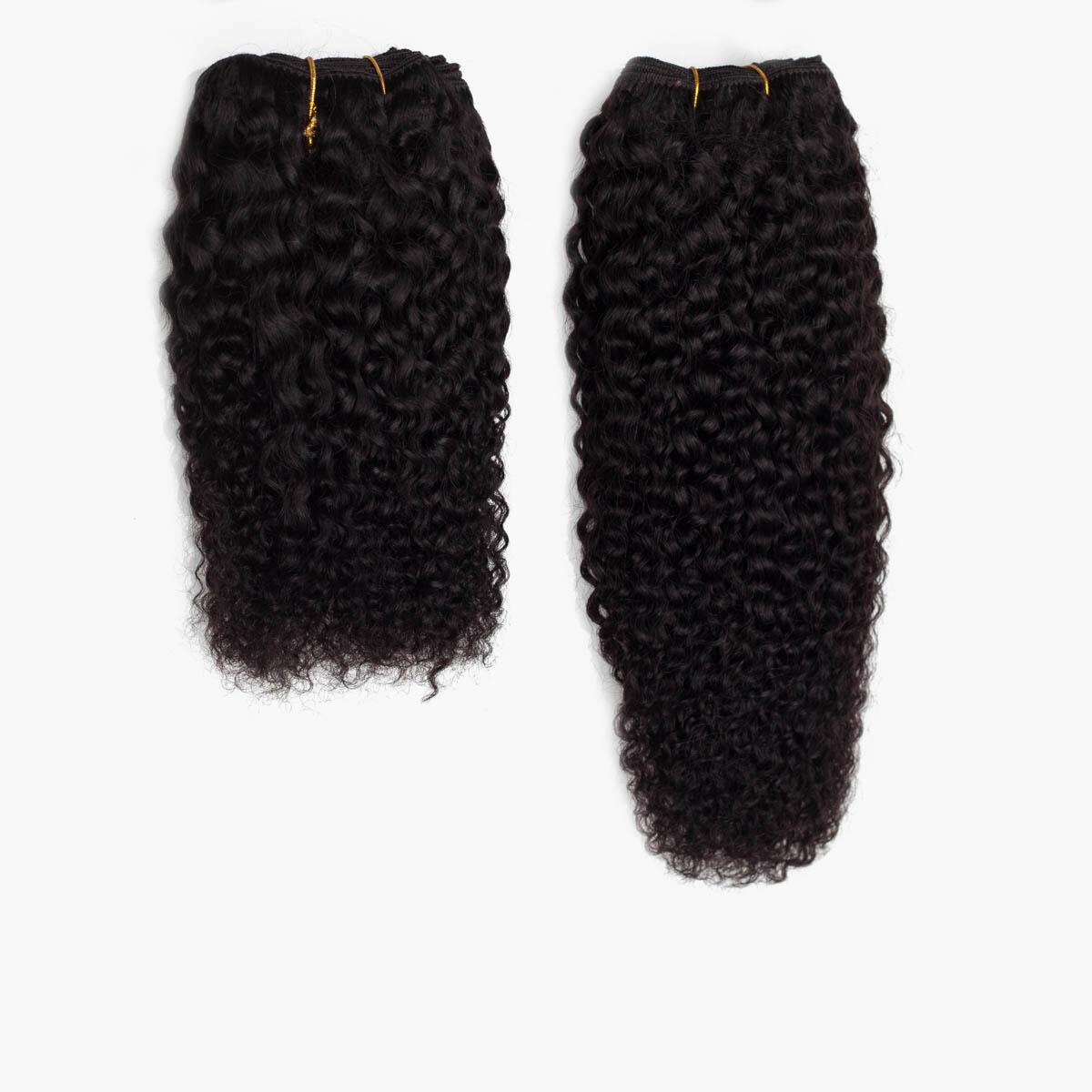 Hair Weft 1.2 Black Brown 25 cm
