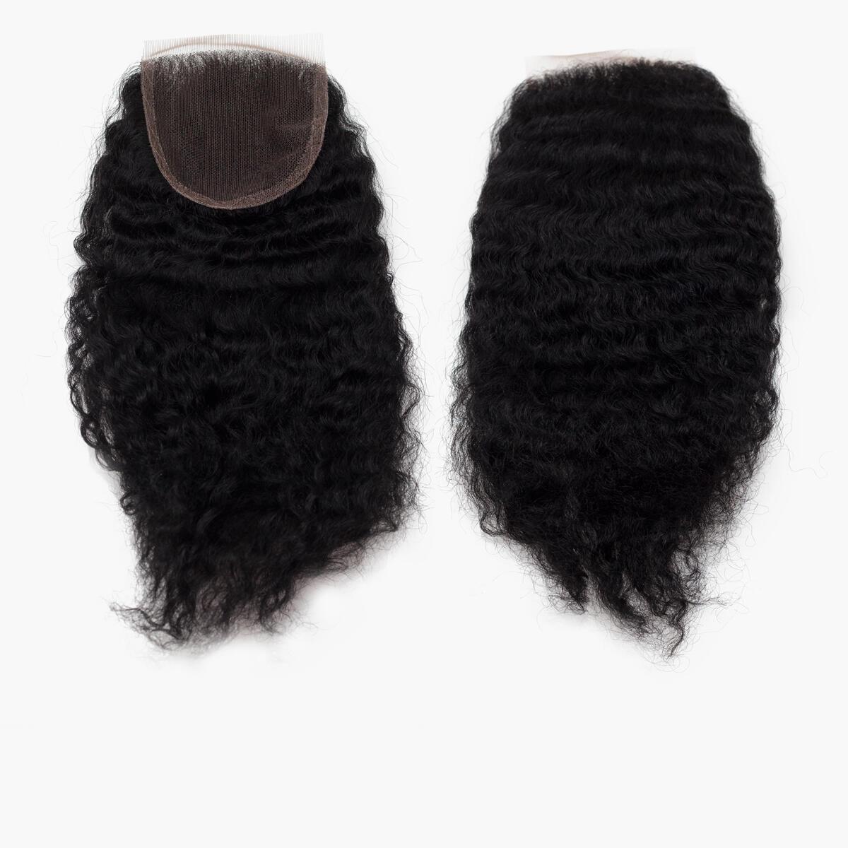 Lace Closure Coily Curl 1.0 Black 25 cm