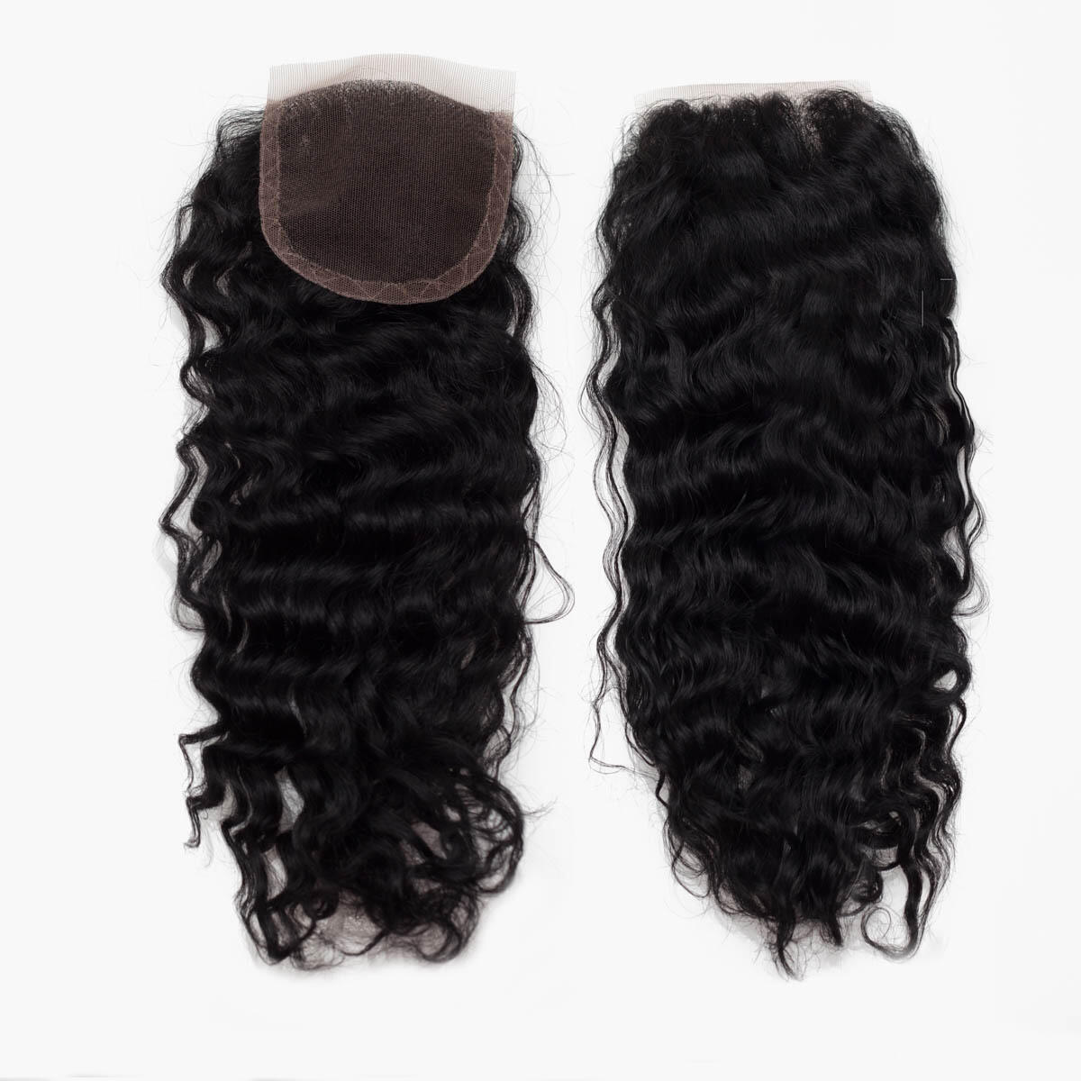 Lace Closure Curly Curls 1.0 Black 35 cm