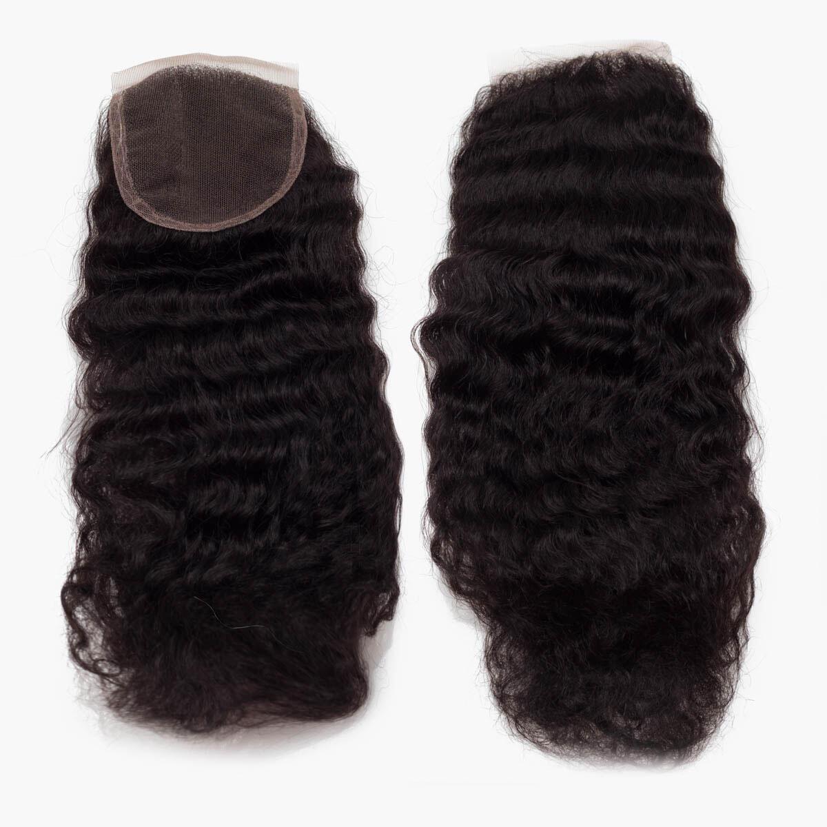 Lace Closure Coily Curl 1.2 Black Brown 25 cm