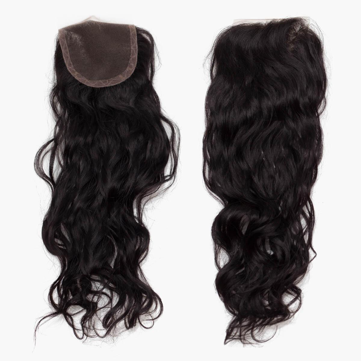 Lace Closure Soft Wave 1.2 Black Brown 40 cm