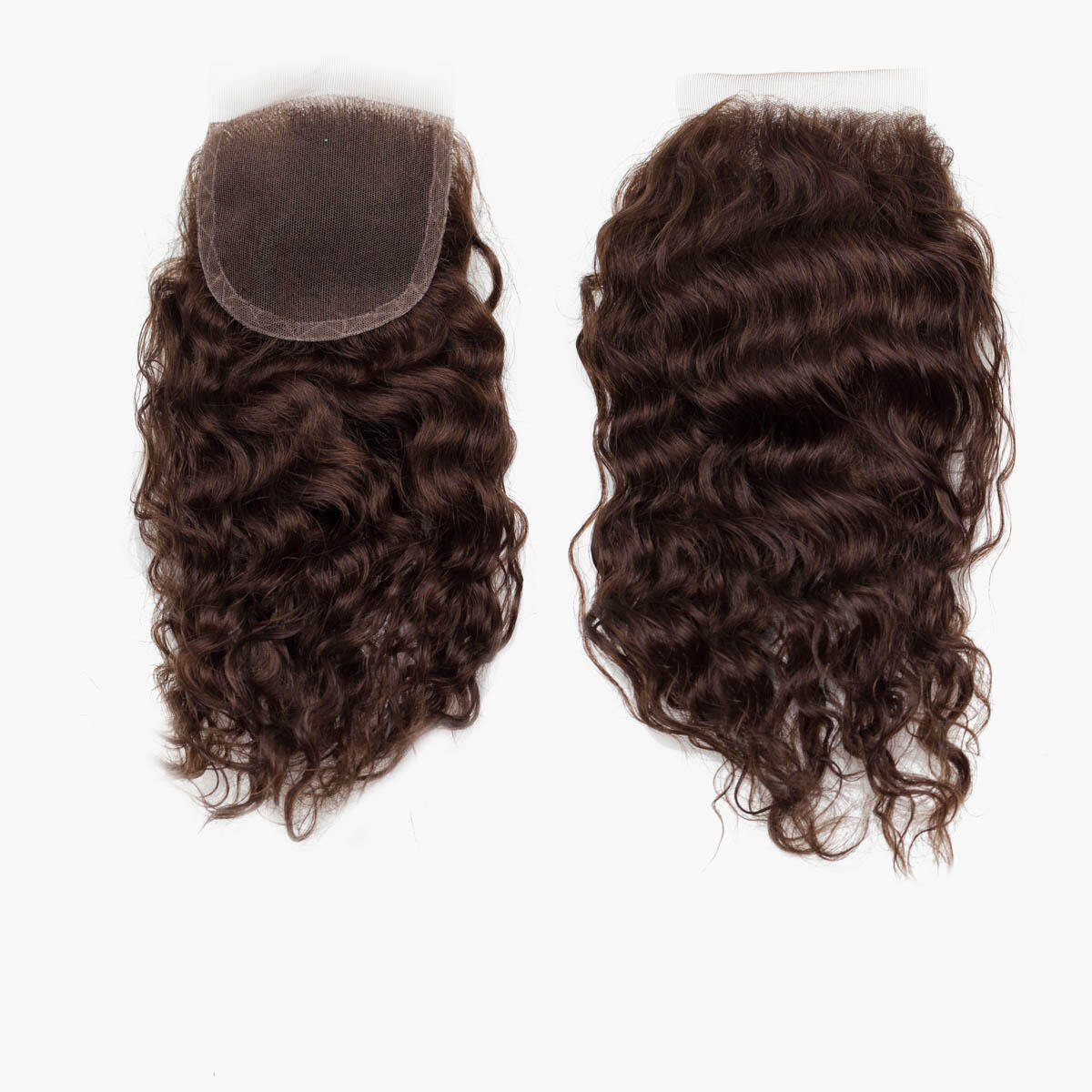 Lace Closure Bouncy Curl 2.2 Coffee Brown 30 cm