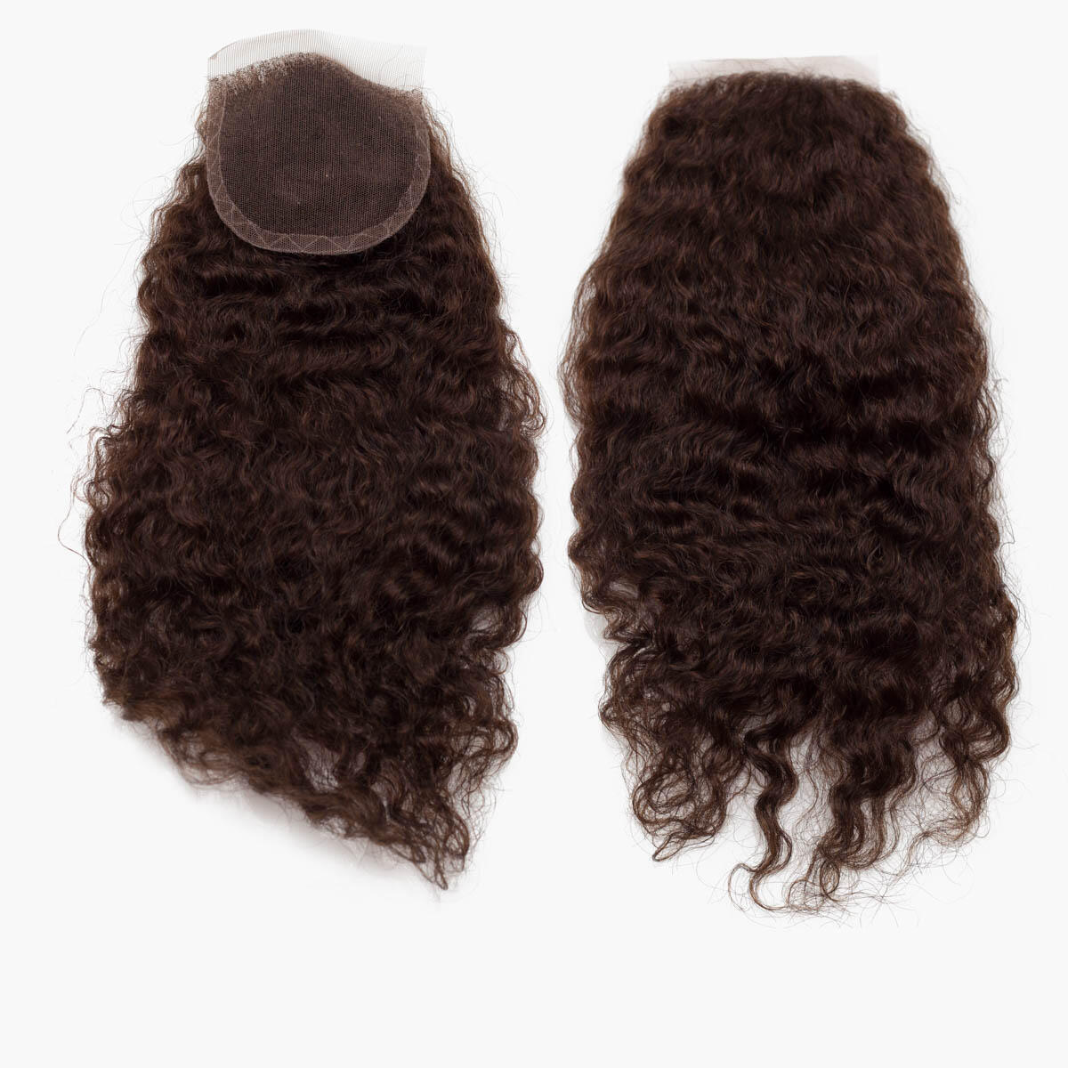 Lace Closure Curly Curls 2.2 Coffee Brown 35 cm