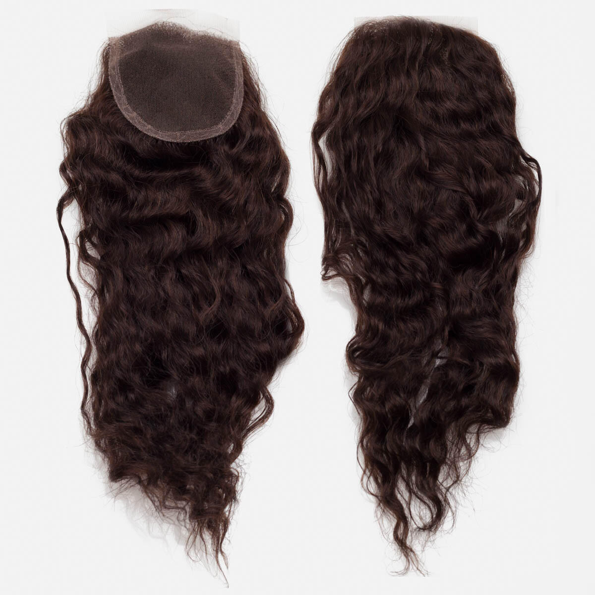 Lace Closure Curly Curls 2.3 Chocolate Brown 35 cm