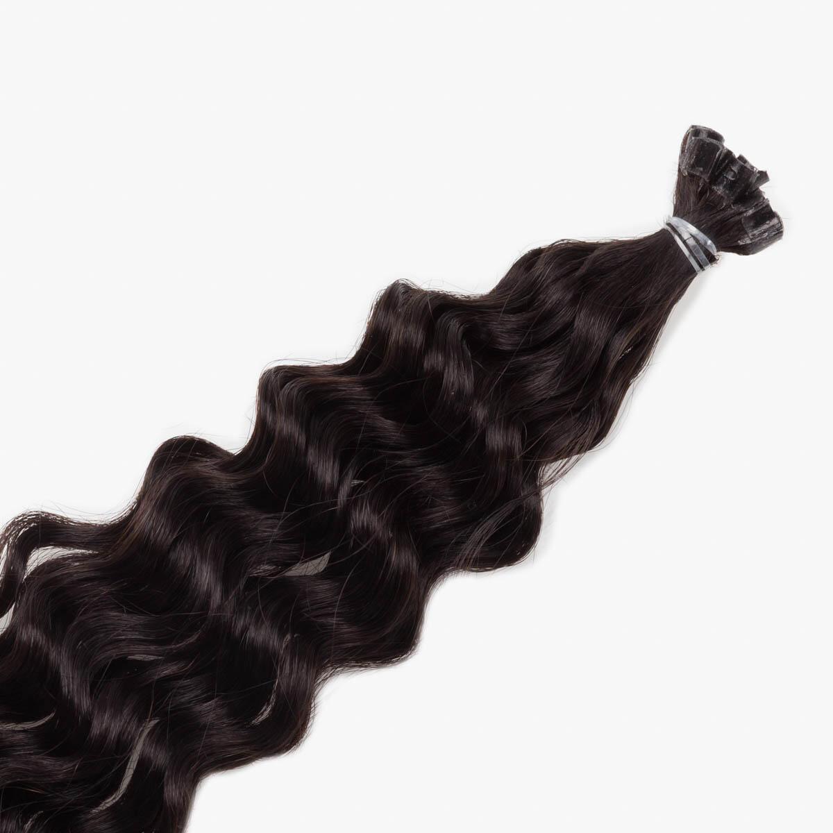 Nail Hair Original Curly 1.2 Black Brown 40 cm