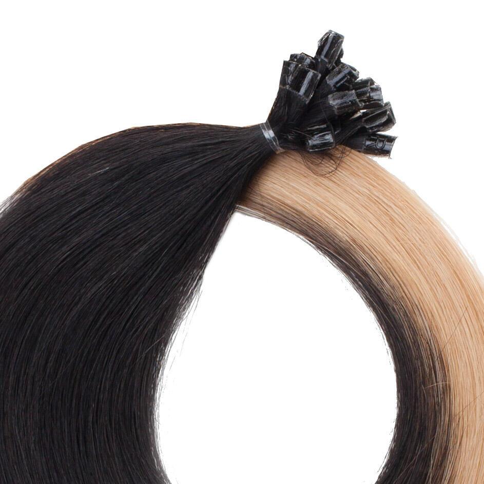Nail Hair Premium O1.2/7.5 Black Blond Ombre 40 cm