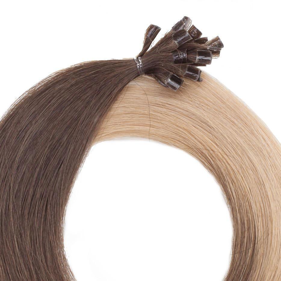 Nail Hair O2.0/7.5 Medium Brown Ombre 40 cm