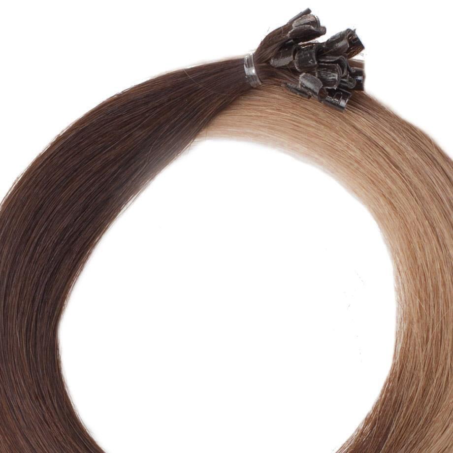 Nail Hair O2.2/7.3 Brown Ash Ombre 40 cm